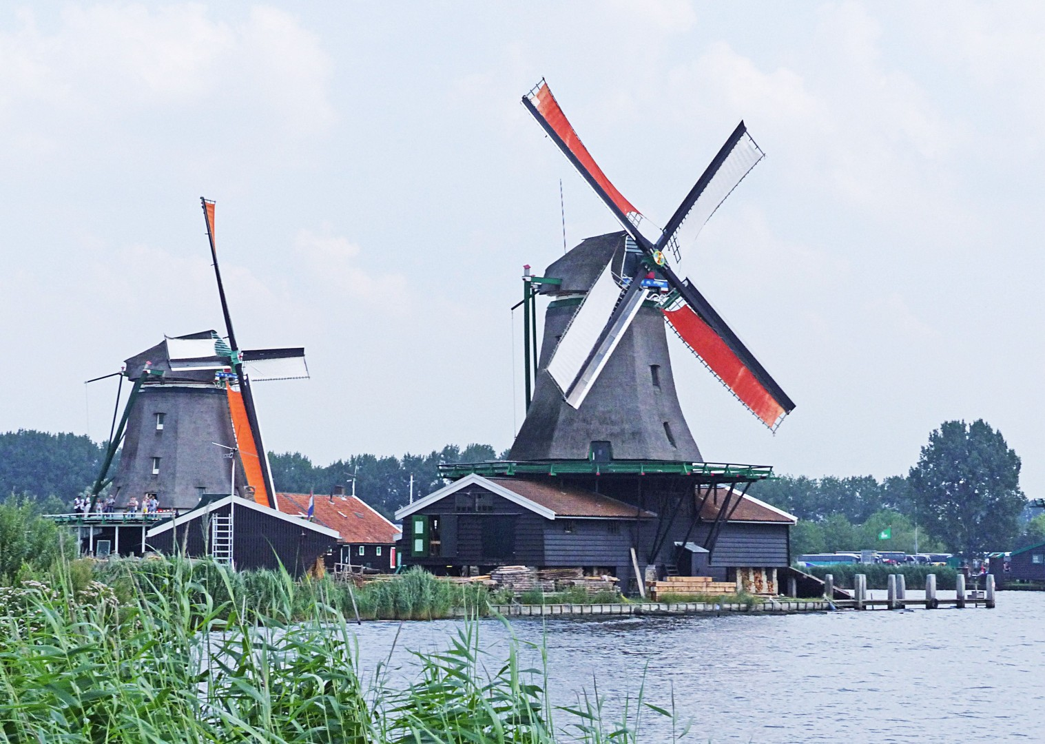 zaanse-schans-cycling-holiday-in-holland-bike-and-barge-holiday.jpg - Holland - Windmills and Golden Beaches - Bike and Barge Holiday - Family Cycling
