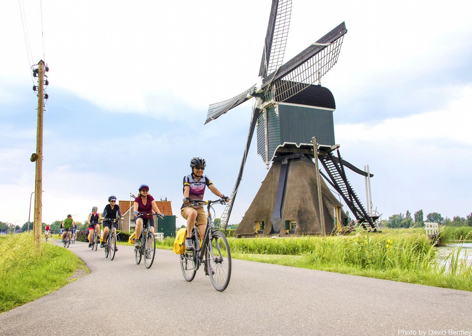 classic-holland-windmills-through-guided-cycle-tours.jpg - Holland - Windmills and Golden Beaches - Bike and Barge Holiday - Family Cycling