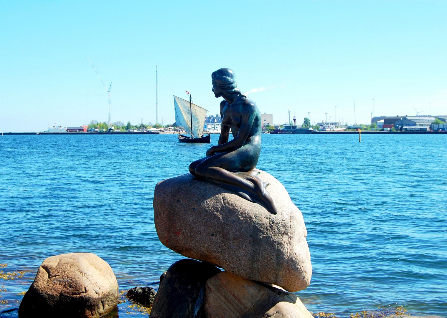 little-mermaid-statue-copenhagen-denmark-family-biking.jpg - NEW! Denmark - Zooming Through Zealand - Family Cycling