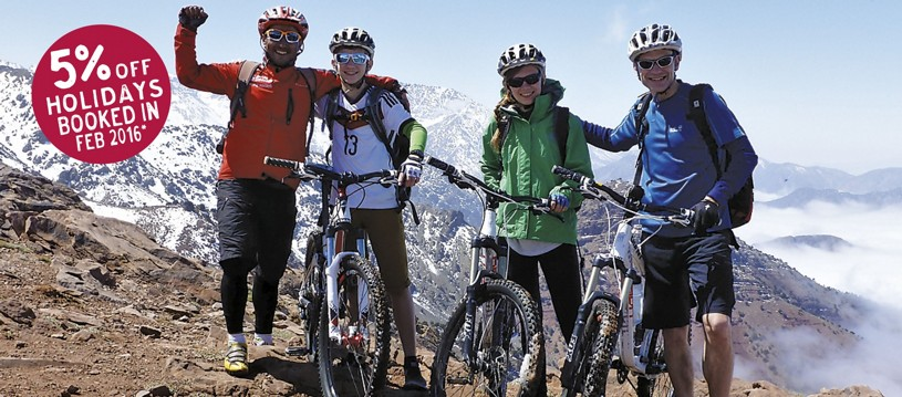 Our Moroccan holiday takes you from the magnificent Atlas mountains to the cooling coast, and stop off at the Sahara Desert on the way and is a great family cycling holiday option.