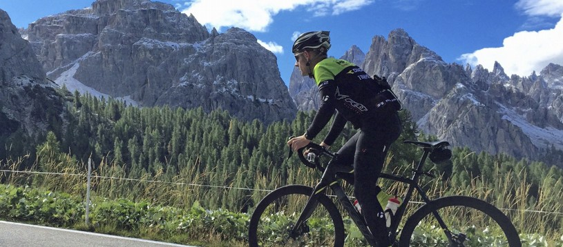 Focus on the riding during our Hors Categorie road cycling tours. The Raid Alpine and Raid Pyrenean tours read like a roll call of Tour de France favourites, with the Raid Dolomiti traversing Italy's Alps & Dolomites and showcasing this amazing area.