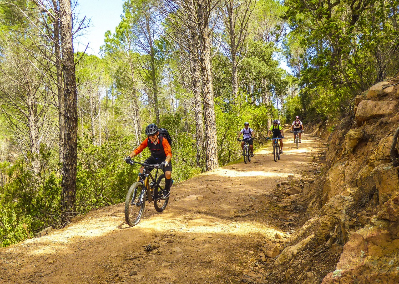 group-fun-mountain-biking-tour-sardinia-italy.jpg - Sardinia - Coast to Coast - Mountain Biking