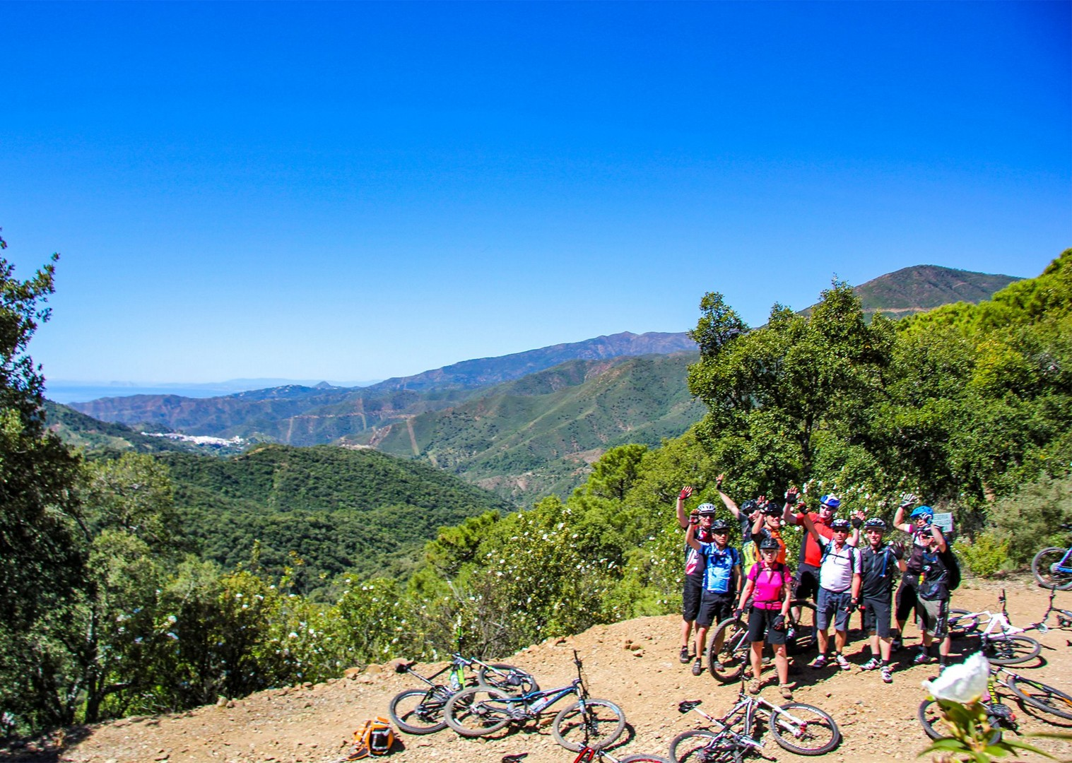 group-cycling-guided-mountain-bike-holiday-biking-in-spain.jpg - Spain - Trans Andaluz - Guided Mountain Bike Holiday - Mountain Biking