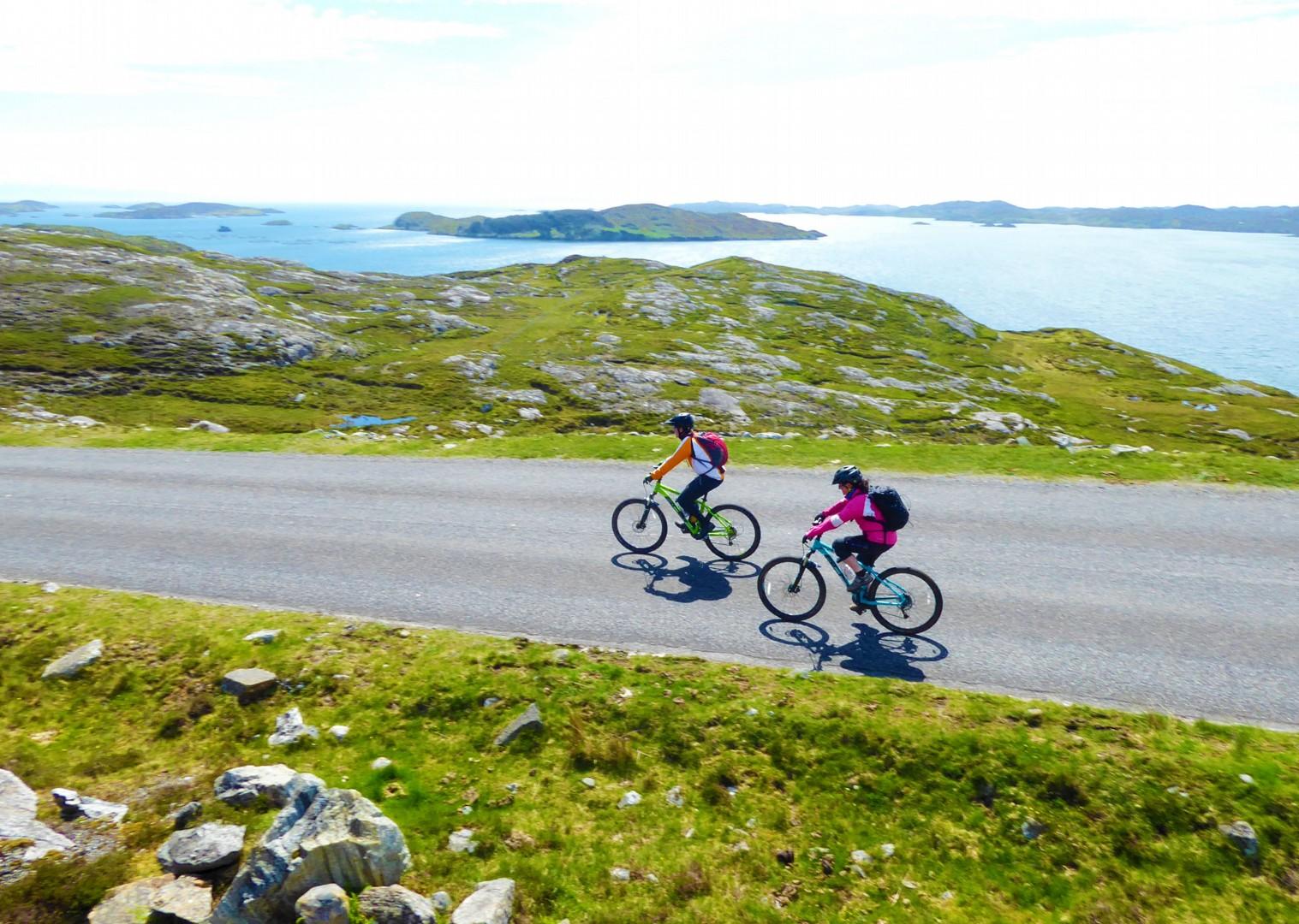 open-road-coastal-mountain-biking-cycling-holiday-in-outer-hebrides-scotland.jpg - Scotland - Hebridean Explorer - Guided Mountain Bike Holiday - Mountain Biking