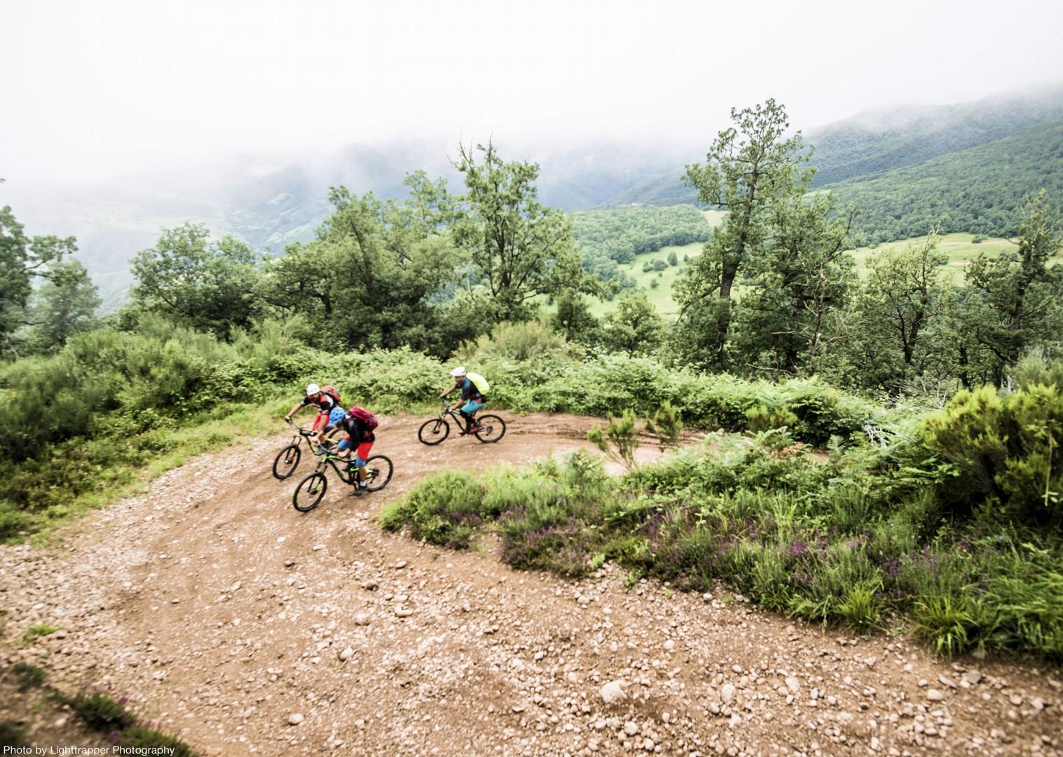 wide-open-road-climb-mountain-biking-northern-spain-picos-de-europa.jpg - Spain - Picos de Europa - Trans Picos - Guided Mountain Bike Holiday - Mountain Biking