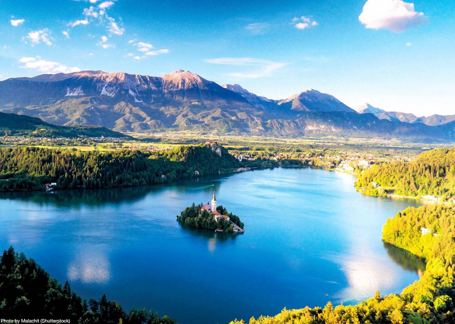 lake-bled-slovenia-guided-road-cycling-holiday-saddle-skedaddle.jpg - Slovenia & Croatia - Julian Alps & Istria - Guided Road Cycling Holiday - Road Cycling