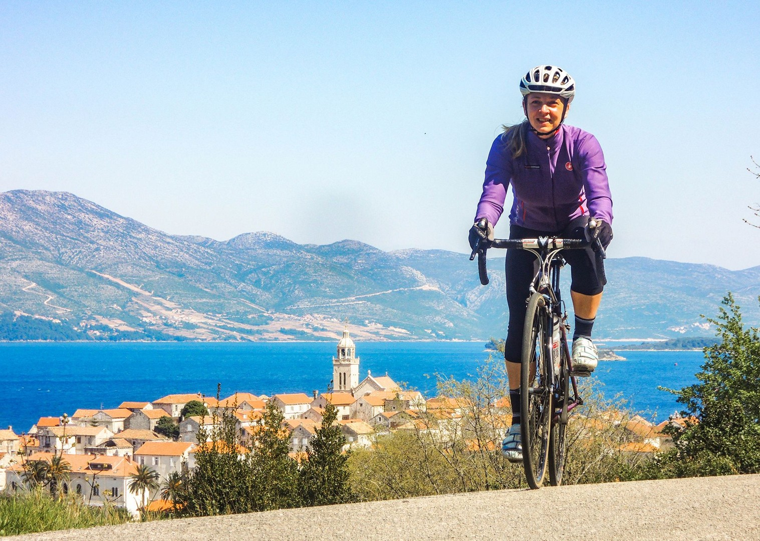 cycling-in-croatia-with-saddle-skedaddle-guided-road-tour.jpg - Croatia - Islands of the Dalmatian Coast - Guided Road Cycling Holiday - Road Cycling