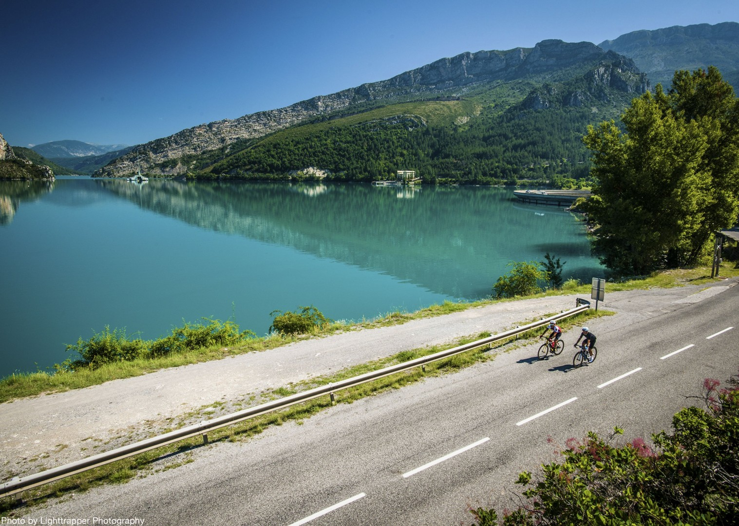 lac-de-saint-croix-french-road-cycling-holiday.jpg - France - Provence - Le Ventoux a Velo - Guided Road Cycling Holiday - Road Cycling