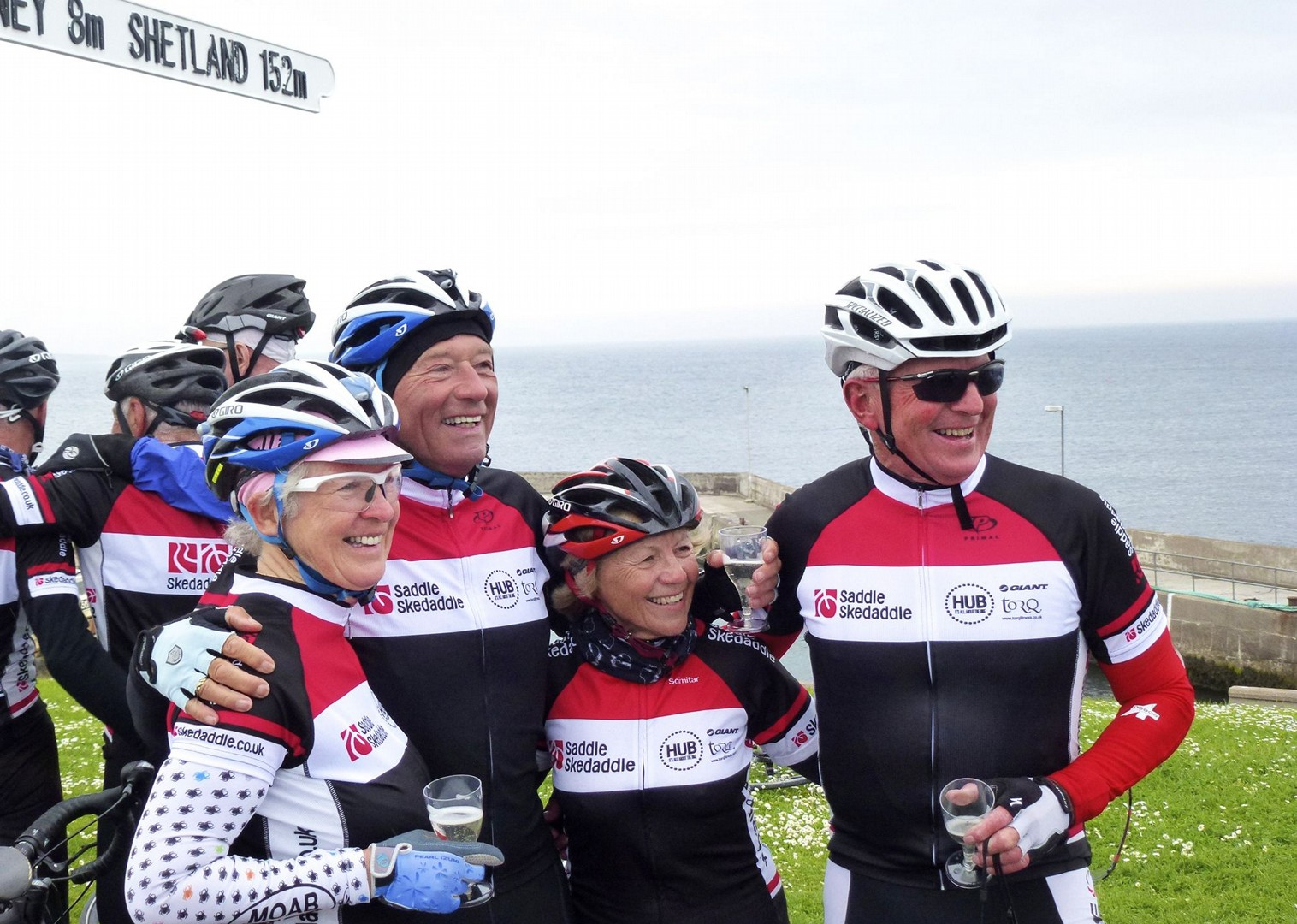 cycling-holiday-sustrans-lands-end-to-john-ogroats-lejog-group.jpg - UK - Land's End to John O'Groats Explorer (22 days) - Guided Cycling Holiday - Road Cycling