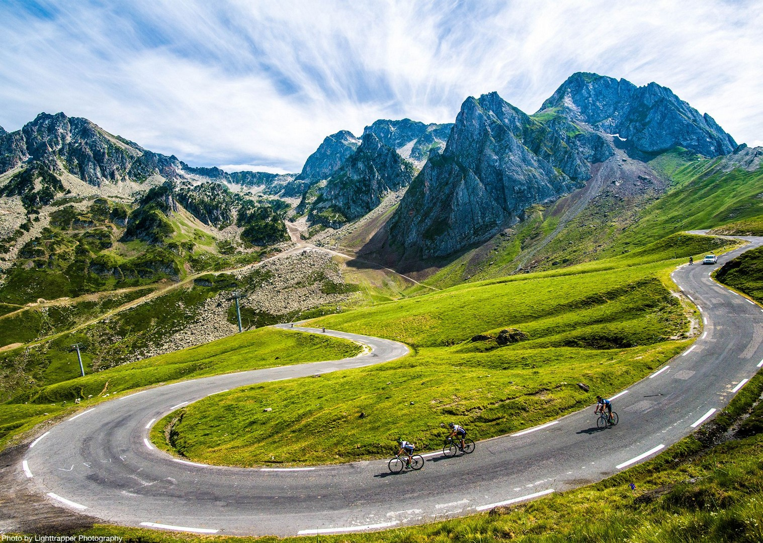 descent-of-pyrenees-mountains-in-france.jpg - France - Trans Pyrenees Challenge - Guided Road Cycling Holiday - Road Cycling