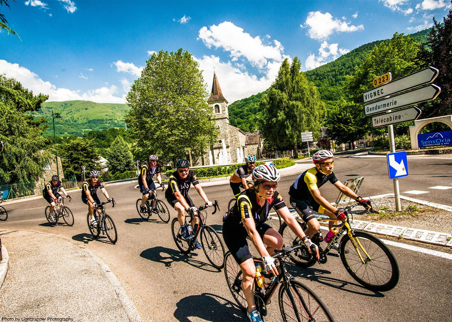 france-gendarmerie-vignec-village-cycling-holiday-with-saddle-skedaddle.jpg - France - Trans Pyrenees Challenge - Guided Road Cycling Holiday - Road Cycling