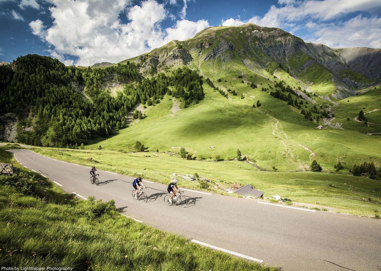 smooth-open-road-hillside-scenery-france-raid-alpine-cycling-holiday.jpg - France - Raid Alpine - Guided Road Cycling Holiday - Road Cycling