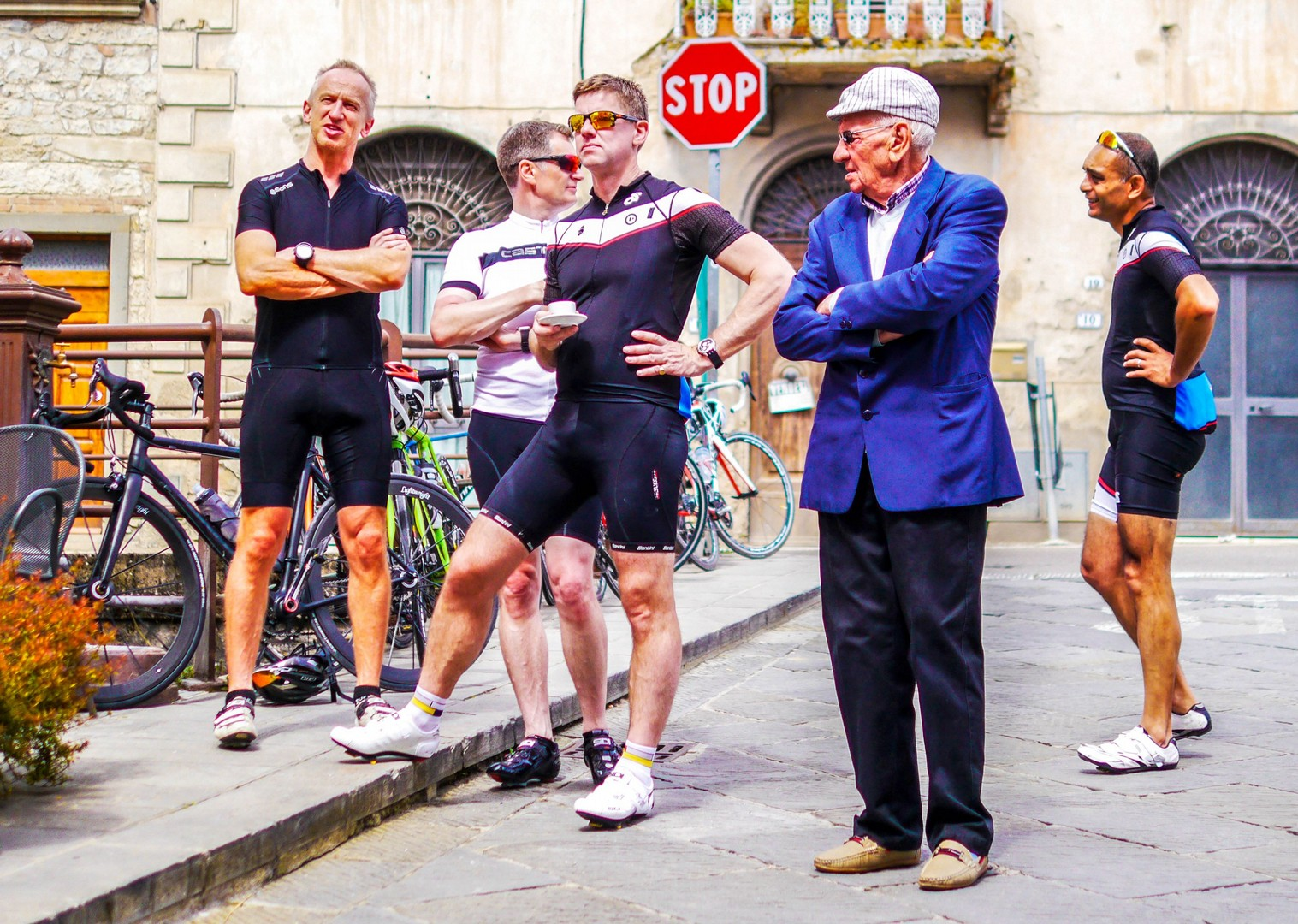 New member of the team.jpg - Italy - Tuscany - Giro della Toscana - Guided Road Cycling Holiday - Road Cycling