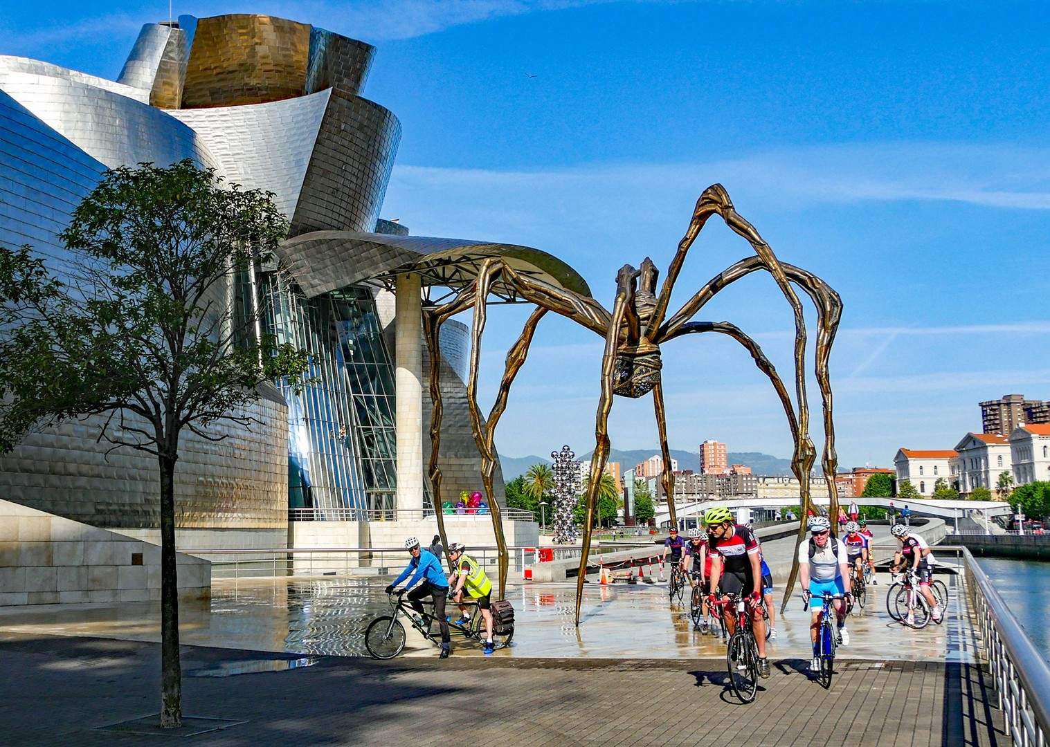 riding-in-bilbao-northern-spain-journey-to-barcelona-guided-cycling-holiday.jpg - Northern Spain - Bilbao to Barcelona - Guided Road Cycling Holiday - Road Cycling