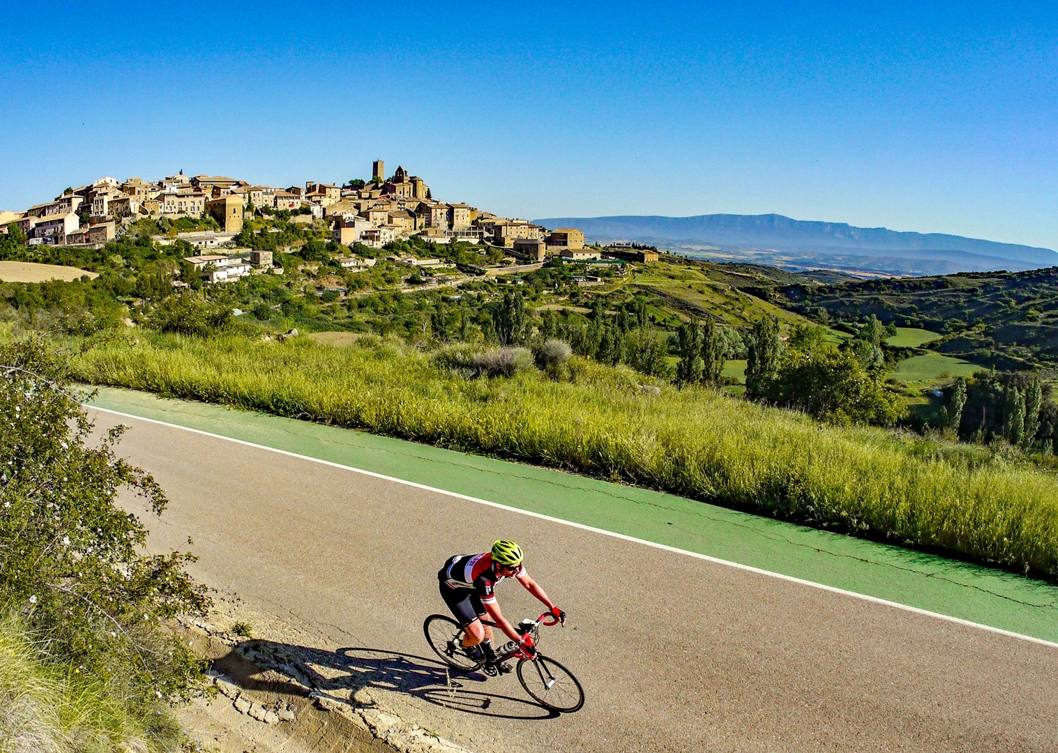 guided-road-cycling-holiday-bilbao-to-barcelona-riding-in-sos-del-ray.jpg - Northern Spain - Bilbao to Barcelona - Guided Road Cycling Holiday - Road Cycling