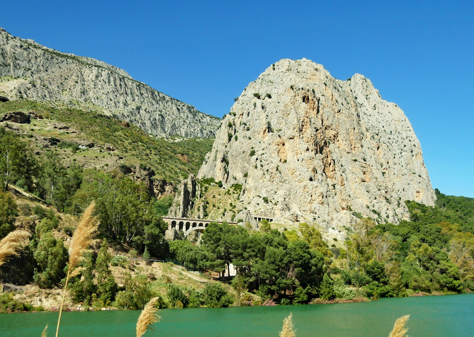 el-chorro-lake-road-cycling-trip.jpg - Spain - Basque Country to Andalucia - North to South - 21 Day - Guided Road Cycling Holiday - Road Cycling