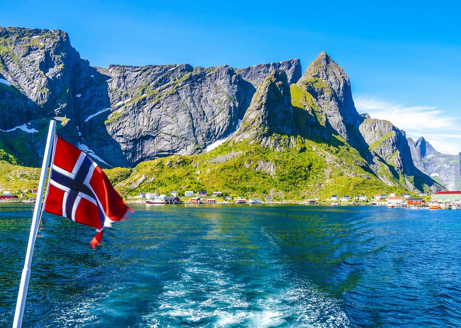lofoten-islands-norway-flag-local-culture-sea-boat-trp-cycling-tour.jpg - Norway - Lofoten Islands - Self-Guided Leisure Cycling Holiday - Leisure Cycling