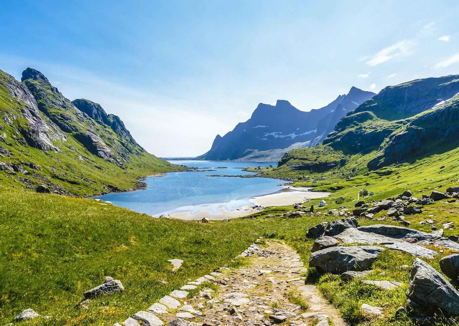 stunning-quiet-beaches-valleys-norway-cycling-relaxing-leisure.jpg - Norway - Lofoten Islands - Self-Guided Leisure Cycling Holiday - Leisure Cycling