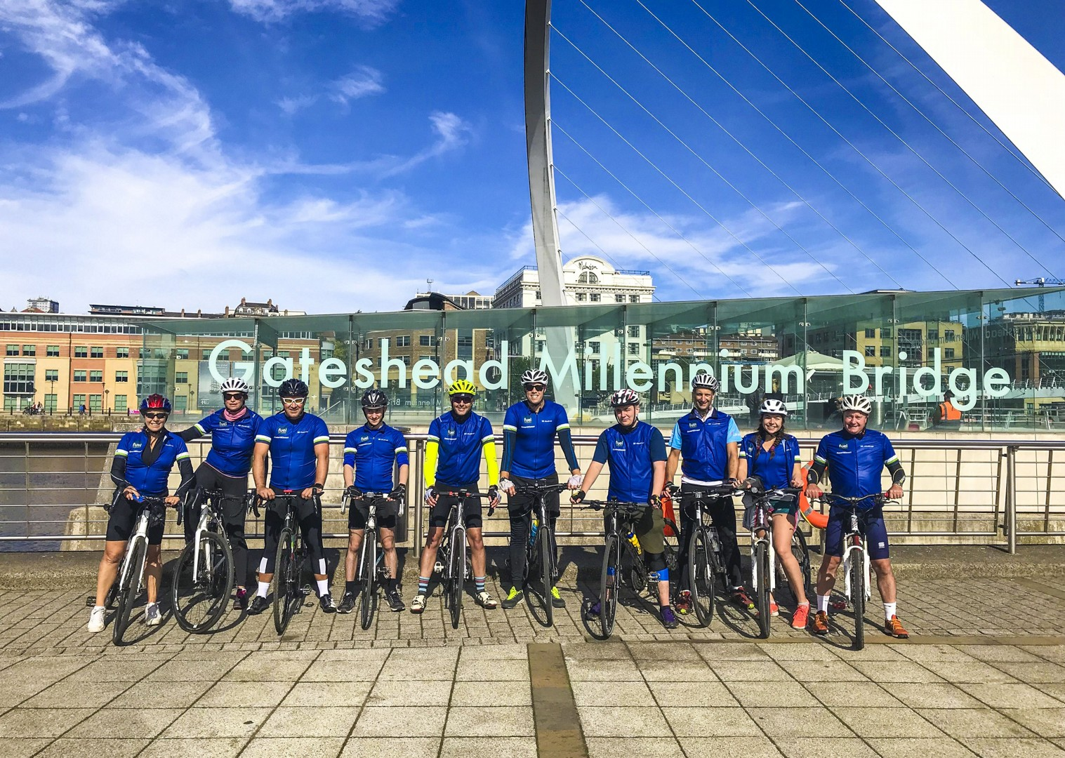 newcastle-cycling-tour-from-whitehaven-group-friends.jpg - UK - C2C - Coast to Coast - Supported Leisure Cycling Holiday - Leisure Cycling