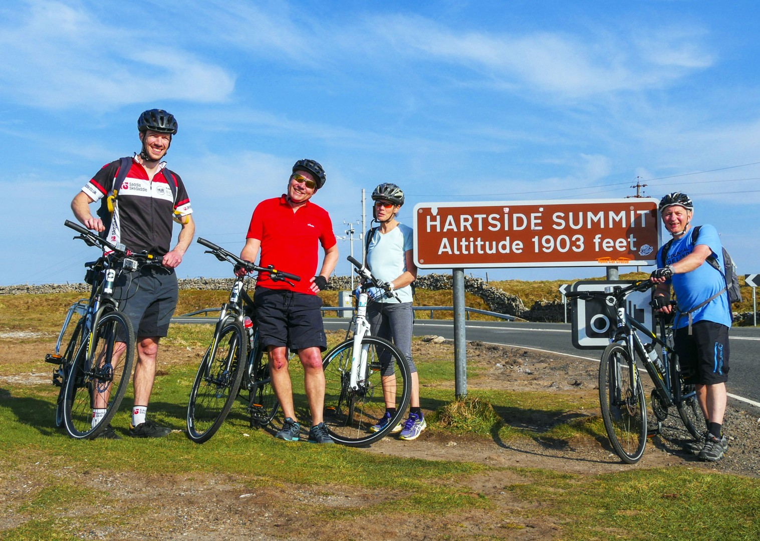 hartside-summit-cycling-uk-c2c-group-holiday.jpg - UK - C2C - Coast to Coast - Supported Leisure Cycling Holiday - Leisure Cycling
