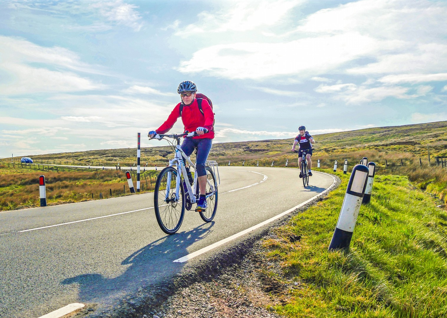 uk-cycle-fun-sunny-group-holiday-supported-easy.jpg - UK - C2C - Coast to Coast - Supported Leisure Cycling Holiday - Leisure Cycling
