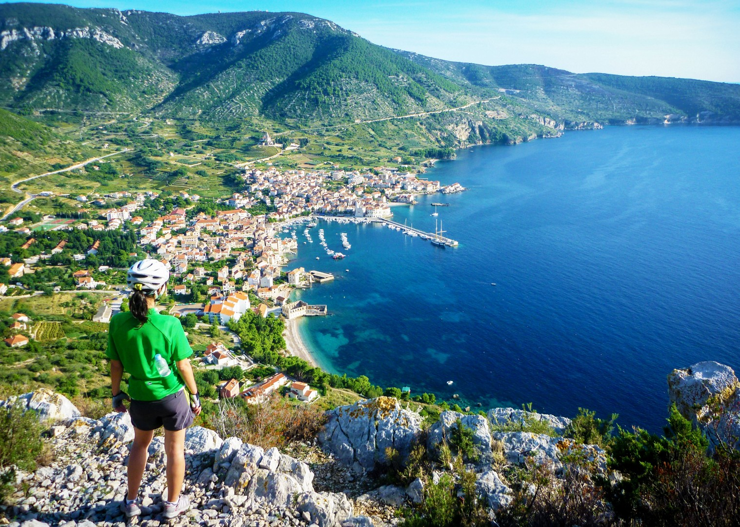 cycle-past-adriatic-waters-southern-dalmatia.jpg - Croatia - Southern Dalmatia - Bike and Boat Holiday - Leisure Cycling