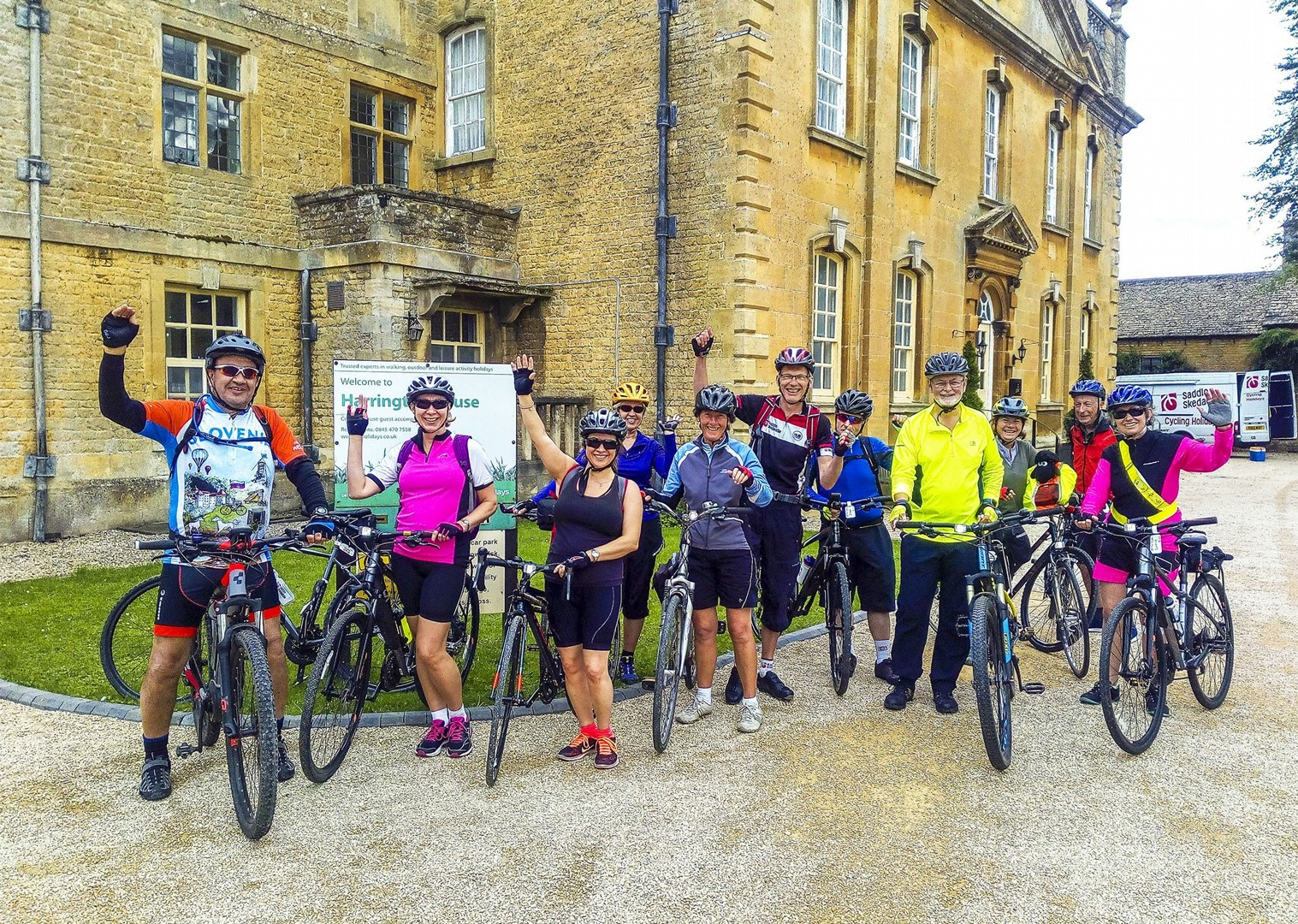 guided-uk-4-day-cycling-group-holiday-solo-traveller-happy-time.jpg - UK - Cotswolds - Bourton-on-the-Water - Guided Leisure Cycling Holiday - Leisure Cycling