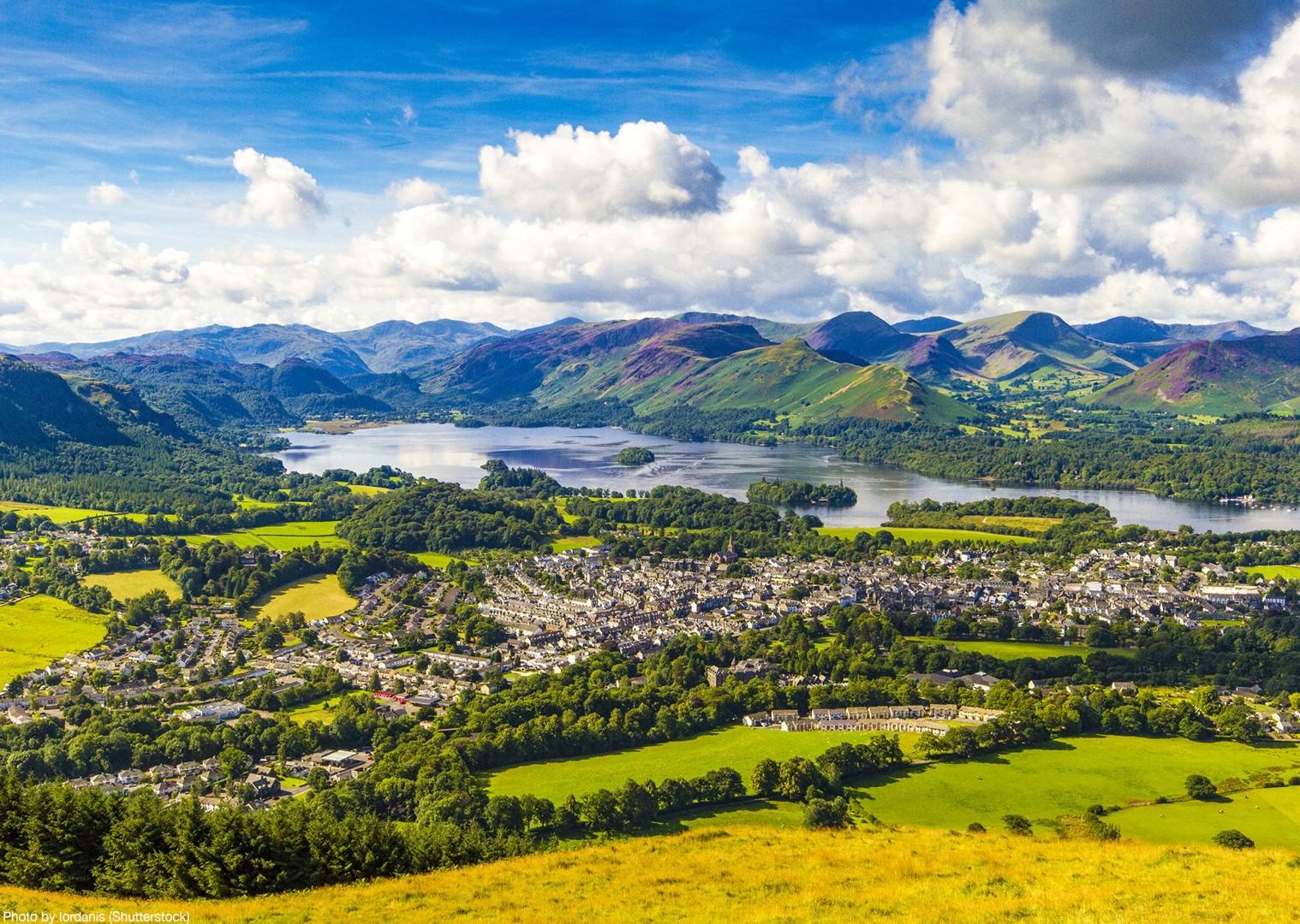 derwent-bank-keswick-hills-leisure-lakes-cycling-local-villages.jpg - UK - Lake District - Derwent Water - Guided Leisure Cycling Holiday - Leisure Cycling