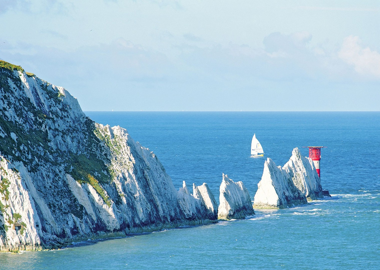 coast-sea-white-cliffs-uk-isle-of-wight-britain-holiday-cycling-bikes.jpg - UK - Isle of Wight - Freshwater Bay - Self-Guided Leisure Cycling Holiday - Leisure Cycling