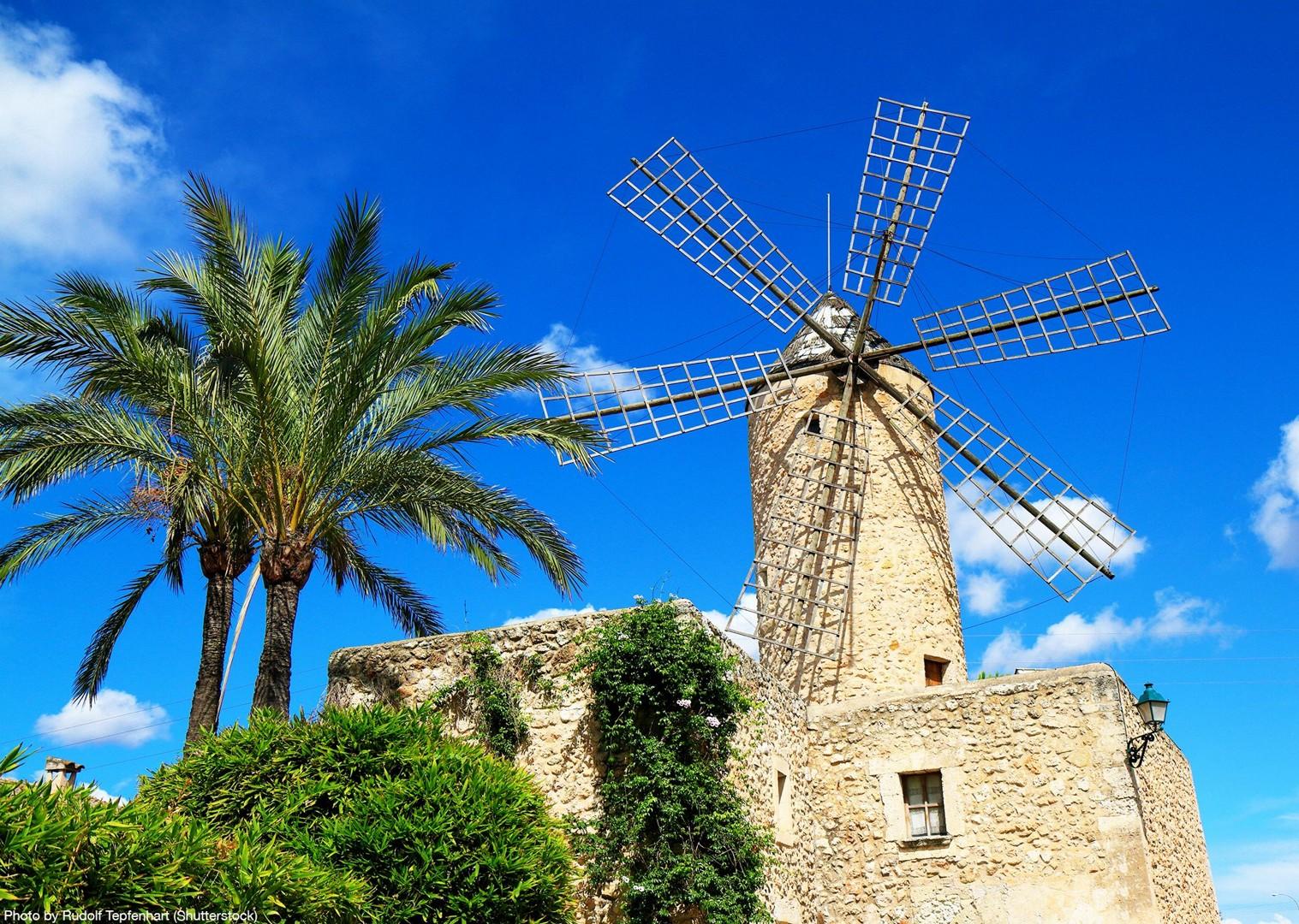 spanish-windmills-leisure-cycling-mediterranean-gentle-pace-mallorca.jpg - Spain - Mallorca - Self-Guided Leisure Cycling Holiday - Leisure Cycling