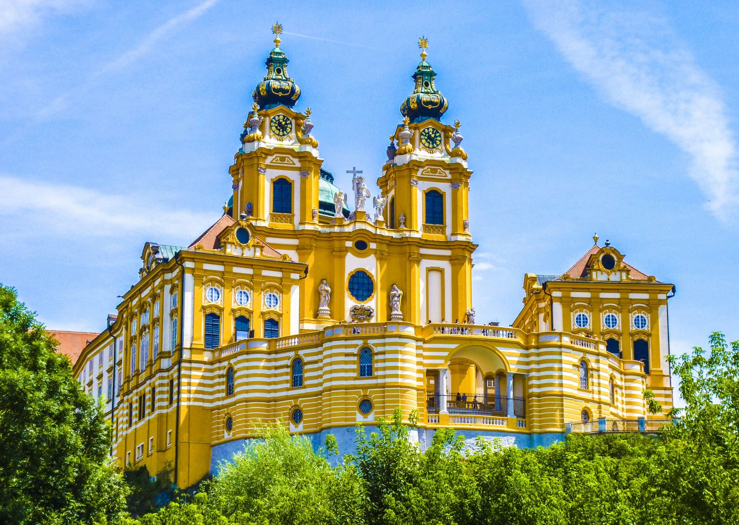 melk-abbey-danube-austria-bike-tour.jpg - Germany and Austria - The Danube Cycle Path - Supported Leisure Cycling Holiday - Leisure Cycling