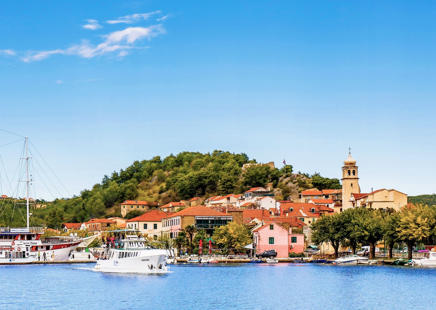 bike-and-boat-croatia-adriatic-waters-stunning.jpg - Croatia - Dalmatian National Parks and Islands Plus - Bike and Boat Holiday - Leisure Cycling