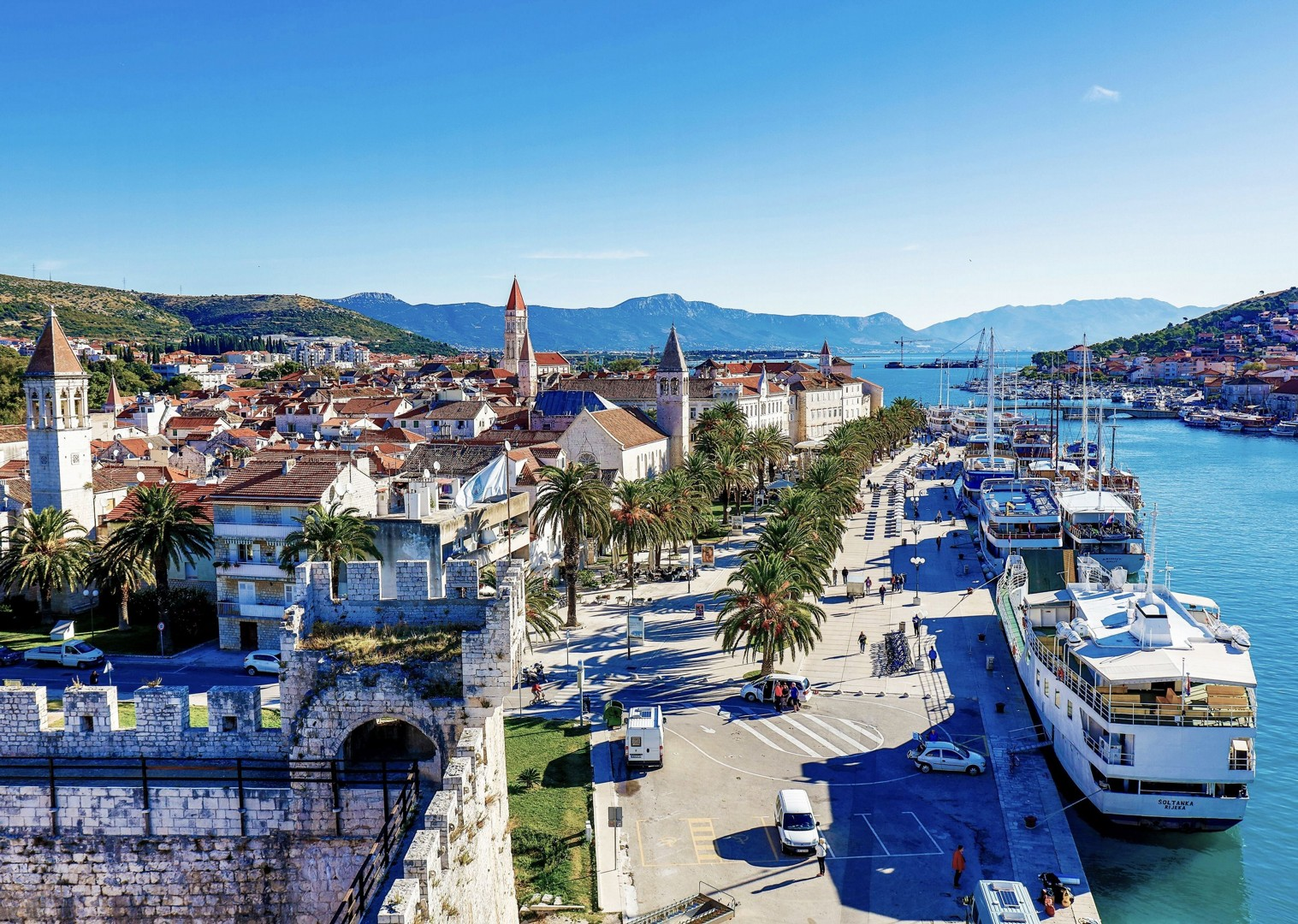 rogoznica-croatia-cycling-holiday-boat.jpg - Croatia - Dalmatian National Parks and Islands Plus - Bike and Boat Holiday - Leisure Cycling