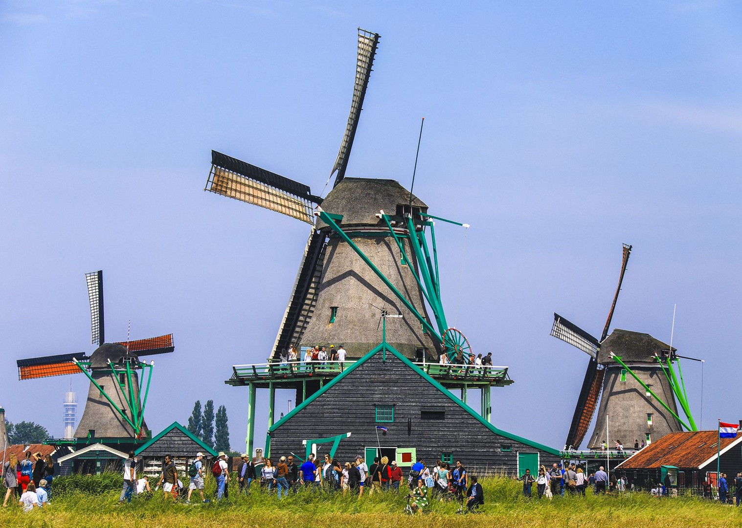 zaanse-schans-zaandam-holland-amsterdam-windmills-premium-bike-and-barge.jpg - Holland and Belgium - Amsterdam to Bruges - Premium Bike and Barge Holiday - Leisure Cycling