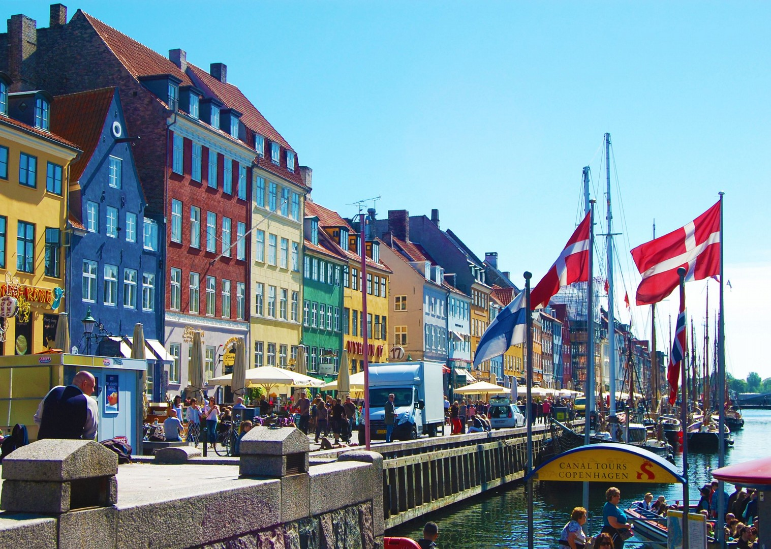 copenhagen-nyhavn-harbour-houses-leisure-biking-skedaddle.jpg - Denmark - Coast, Castles and Copenhagen - Self-Guided Leisure Cycling Holiday - Leisure Cycling