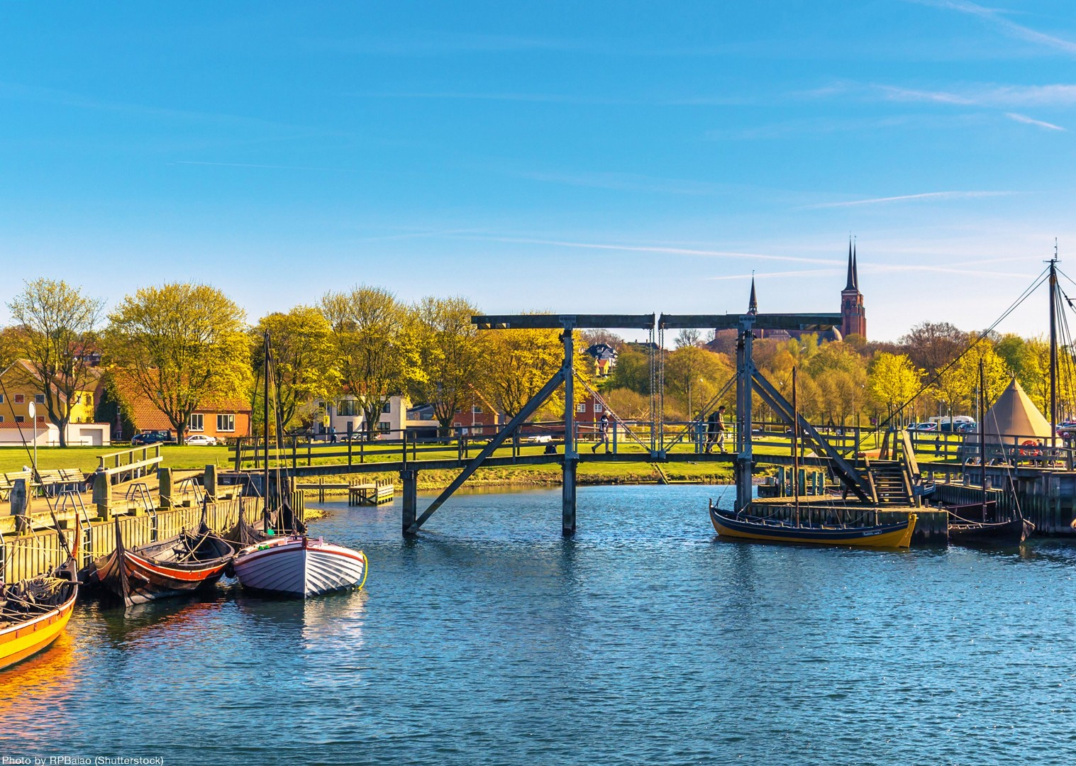 cycle-boats-leisure-denmark-river.jpg - Denmark - Coast, Castles and Copenhagen - Self-Guided Leisure Cycling Holiday - Leisure Cycling