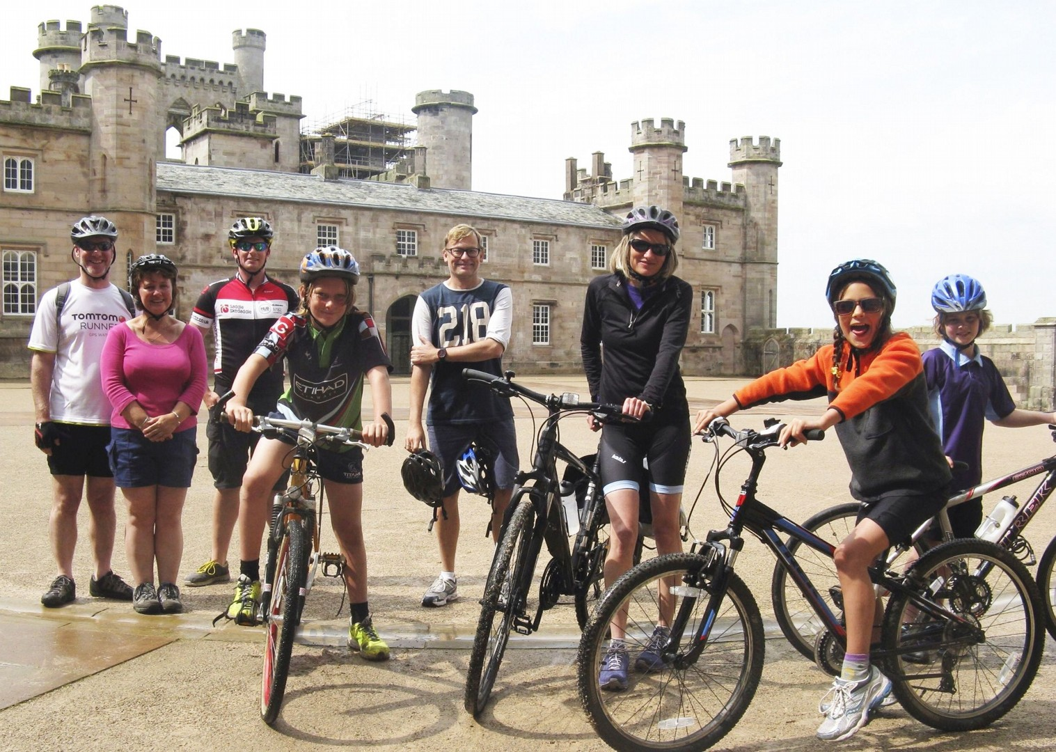 castles-lake-district-family-cycling-holiday.jpg - UK - Lake District - Guided Family Bike Skills - Family Cycling