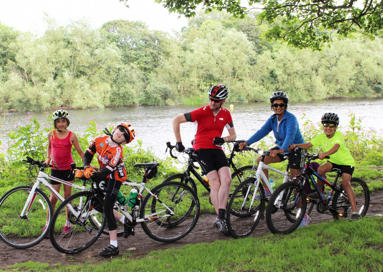 family-supported-hadrians-cycleway-hadrians-wall.jpg - UK - Hadrian's Cycleway 4 Day - Supported Family Cycling Holiday - Family Cycling