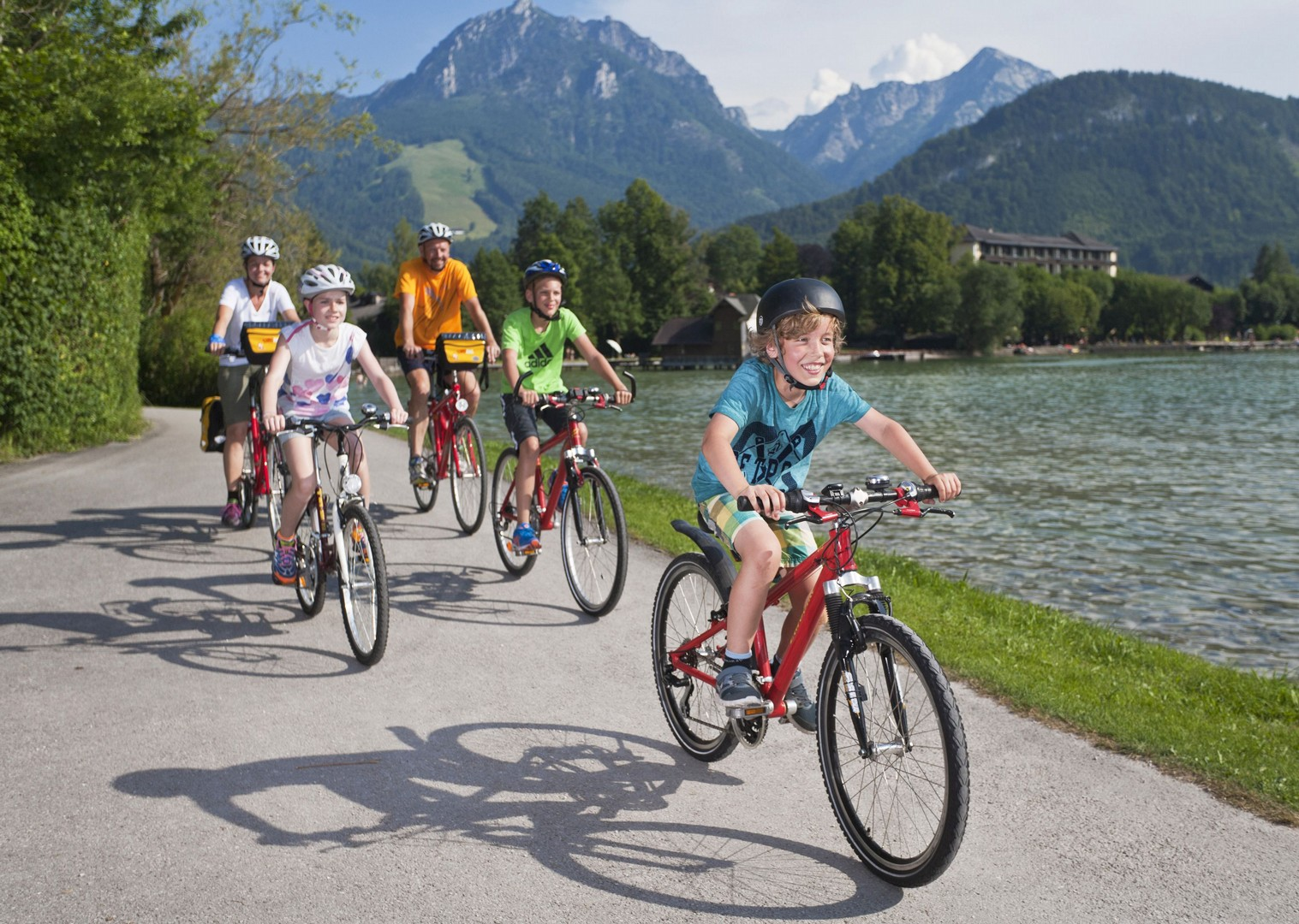 smooth-flat-roads-for-family-biking-austria-ten-lakes-tour.jpg - Austria - Ten Lakes Tour - Self-Guided Family Cycling Holiday - Family Cycling