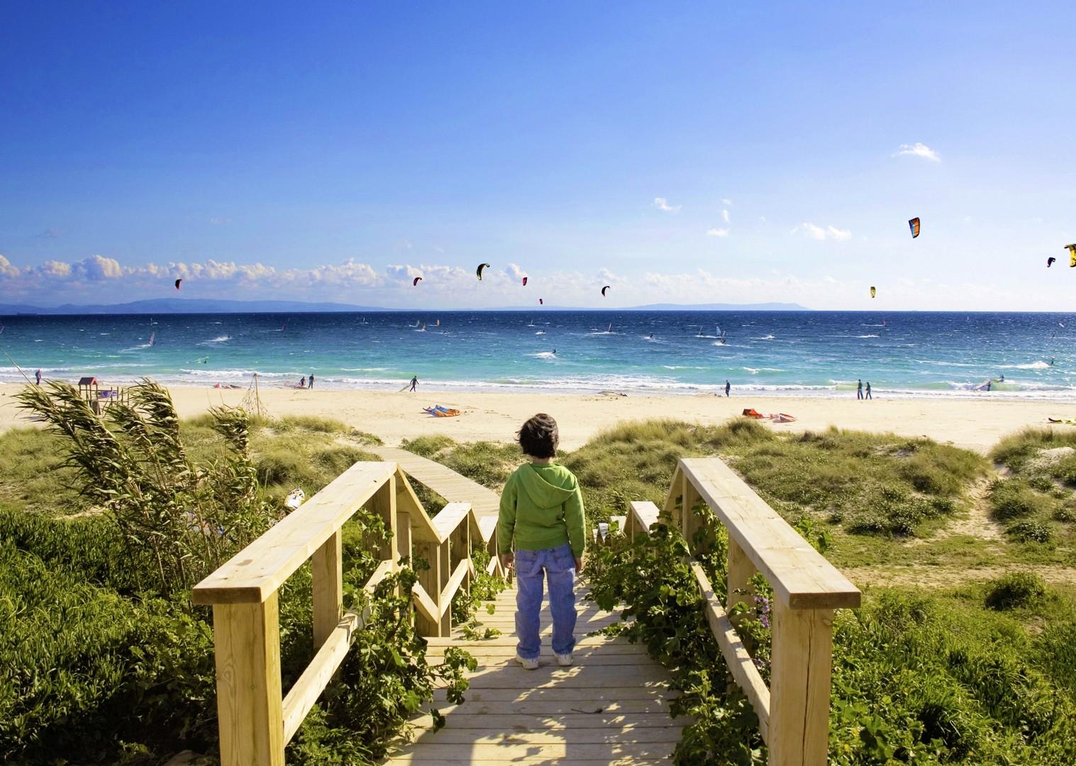 beach-family-straits-of-gibraltar-cycling-holiday.jpg - Southern Spain - Coastal Adventurer - Self-Guided Family Cycling Holiday - Family Cycling