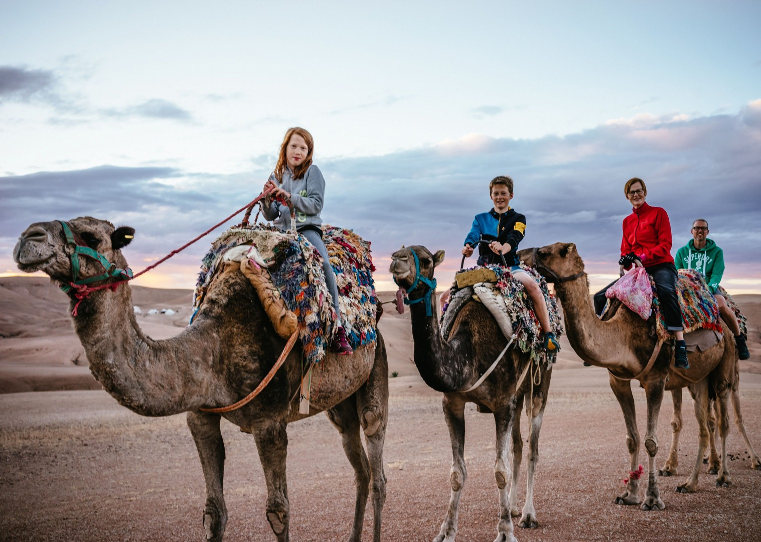 Family-Cycling-Holiday-Morocco-Desert-Mountains-Coast-Camels-ride-a-camel - Morocco - Desert, Mountains and Coast - Guided Family Cycling Holiday - Family Cycling