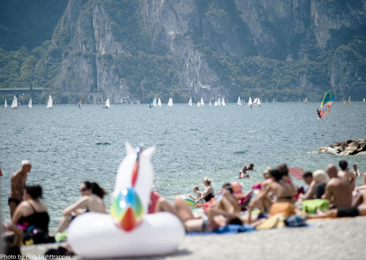 beach-lake-garda-italy-family-holiday.jpg - Italy - Lake Garda Explorer - Self-Guided Family Cycling Holiday - Family Cycling