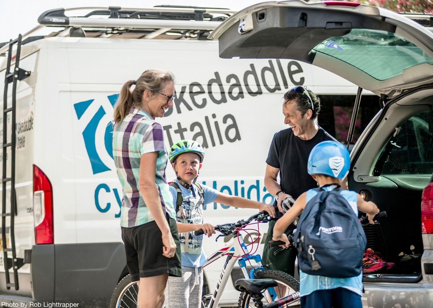 skedaddle-van-lake-garda-italy-cycling.jpg - Italy - Lake Garda Explorer - Self-Guided Family Cycling Holiday - Family Cycling
