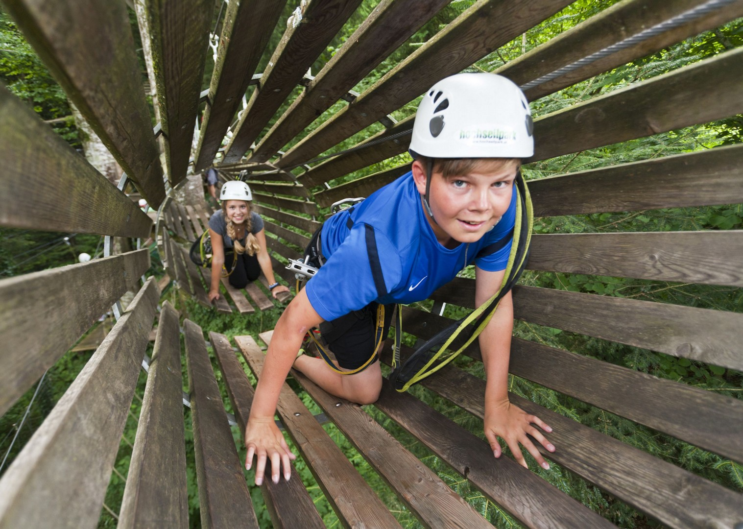 high-rope-course-in-seeham-family-cycling-holiday-in-austria.jpg - Austria - Salzburg's Lake District - Self-Guided Family Cycling Holiday - Family Cycling