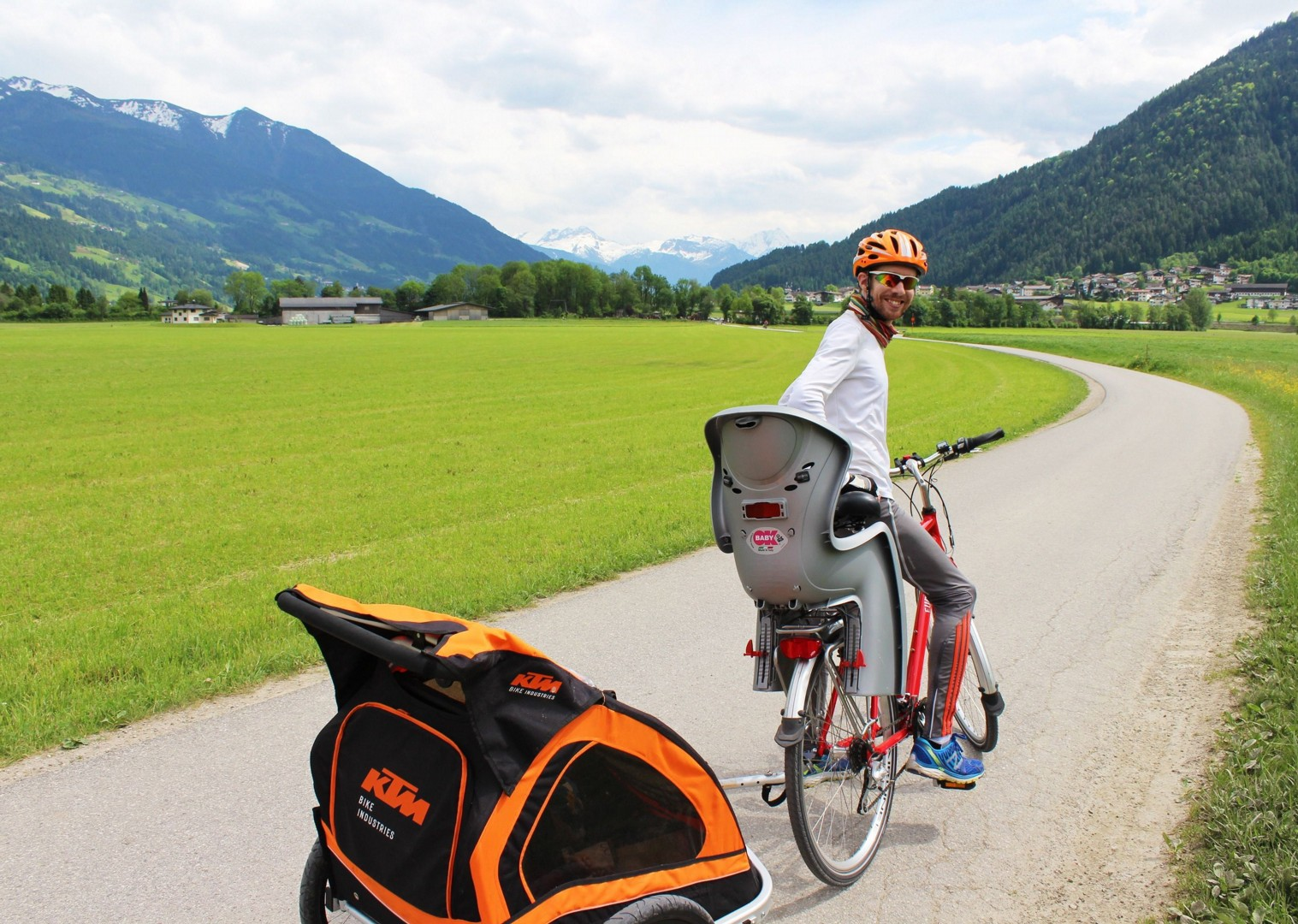 bike-child-tag-along-austria-mountains-family.jpg - Austria - Tauern Valleys - Self-Guided Family Cycling Holiday - Family Cycling