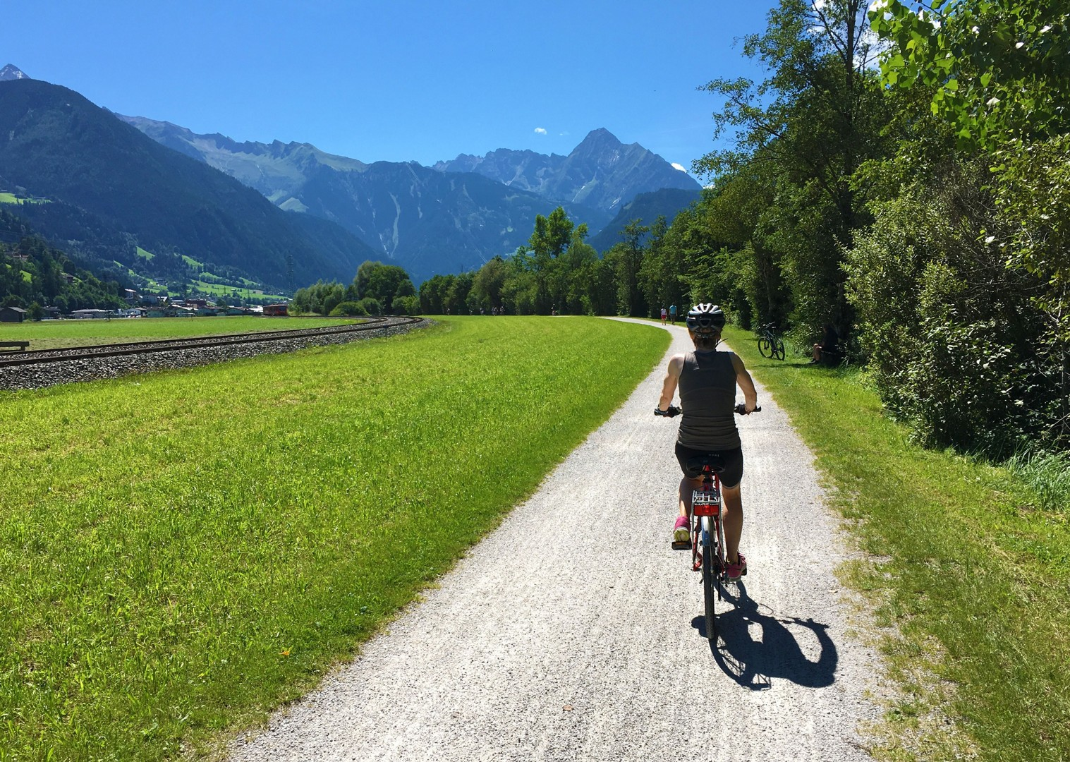 austria-fields-family-cycling-bikes.jpg - Austria - Tauern Valleys - Self-Guided Family Cycling Holiday - Family Cycling
