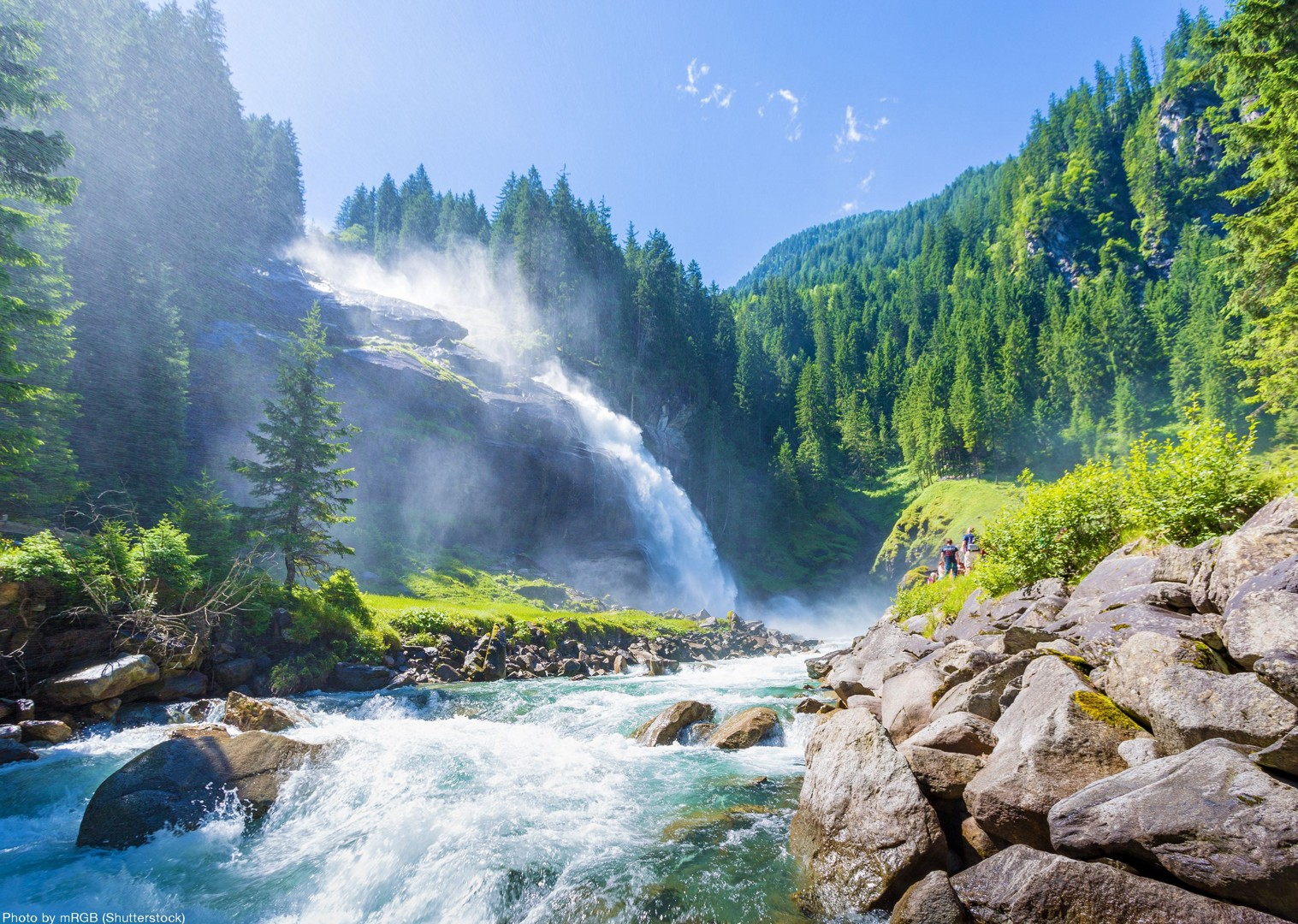 cycling-family-waterfall-austria.jpg - Austria - Tauern Valleys - Self-Guided Family Cycling Holiday - Family Cycling
