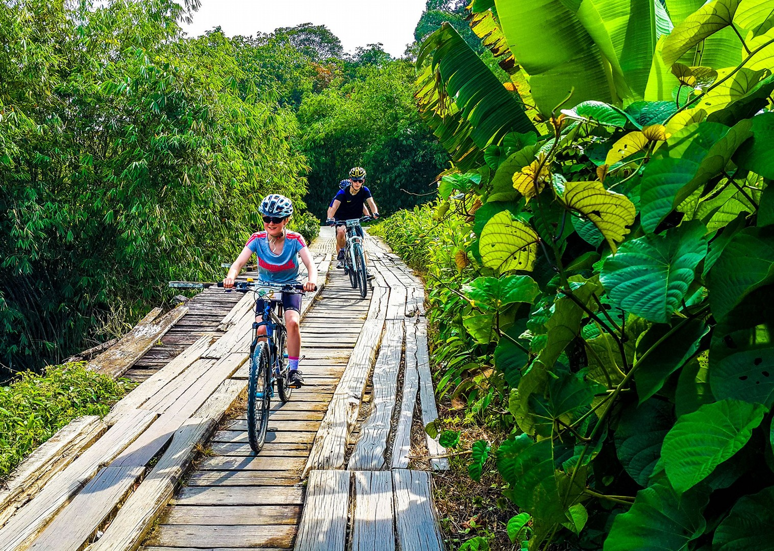 cycling-borneo-sarawak-family-riding-saddle-skedaddle-guided.jpg - NEW! Borneo - Sarawak Jungle Adventures - Family Cycling