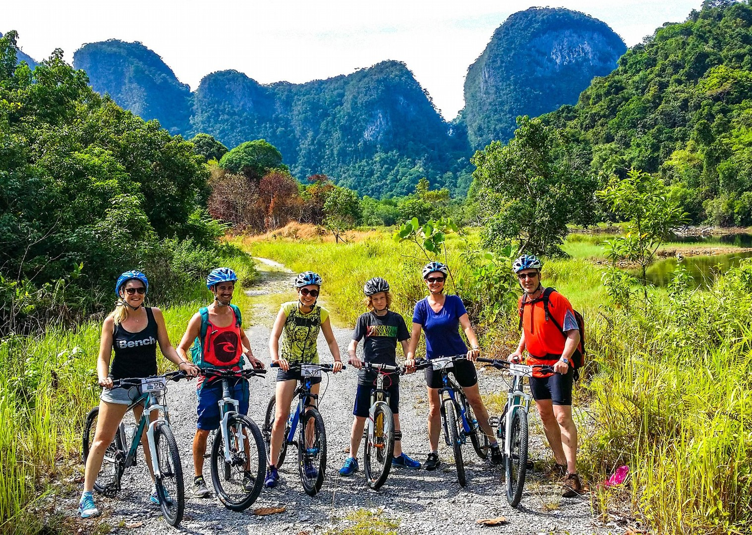 family-borneo-cycling-holiday-with-guides-long-haul.jpg - Borneo - Sarawak Jungle Adventures - Family Cycling