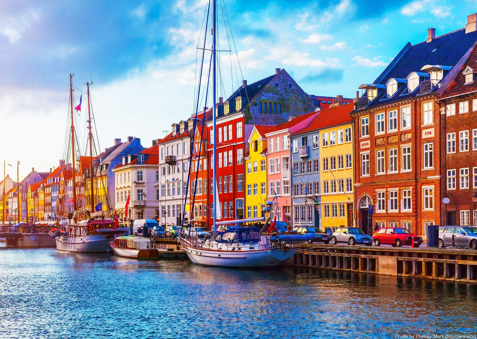 copenhagen-nyhavn-harbour-houses-family-biking-skedaddle.jpg - NEW! Denmark - Zooming Through Zealand - Family Cycling